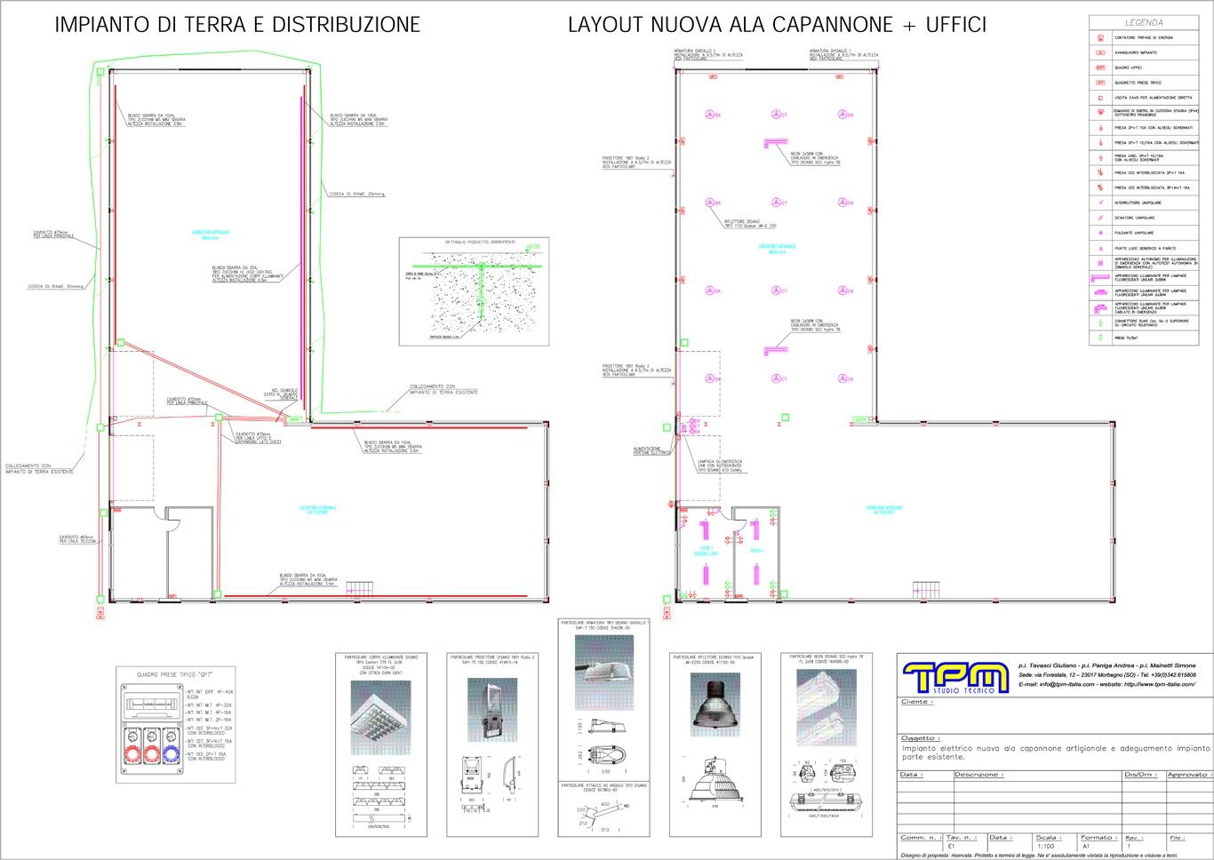 Schemi Elettrici Legenda : Progettazione impianti elettrici studio tecnico tpm